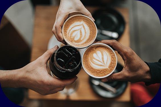 Cola & Kaffee - Illustration für das Vorgespräch